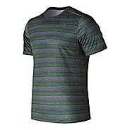 Mens New Balance Anticipate Shirt Short Sleeve Technical Tops - Dark Covert Green XL