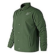 Mens New Balance Classic Coaches Casual Jackets - Dark Covert Green XL