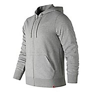 Mens New Balance Essentials French Terry Full Zip  & Hoodies Technical Tops - Athletic Grey M