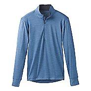 Mens Prana Pratt 1/4 Zip Long Sleeve Technical Tops - Sunbleached Blue XL