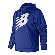 Mens New Balance Graphic Core Fleece Half-Zips & Hoodies Technical Tops - Purple Royal XL