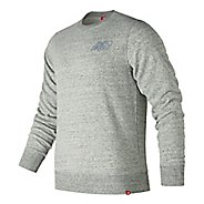 Mens New Balance Heather Crew Long Sleeve Technical Tops