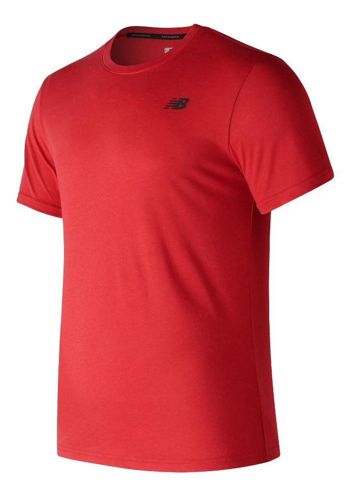 878a834b Mens New Balance Heather Tech Shirt Short Sleeve Technical Tops at ...