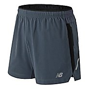 Mens New Balance Impact 5 inch Unlined Shorts - Thunder S