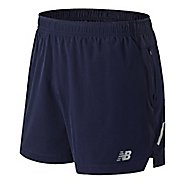 Mens New Balance Impact 5 inch Unlined Shorts - Blue Pigment S