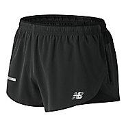 Mens New Balance Impact Split 3 inch Unlined Shorts - Black M