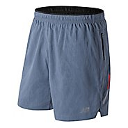 Mens New Balance Jacquard Impact 7 inch Unlined Shorts - Porcelain Blue L
