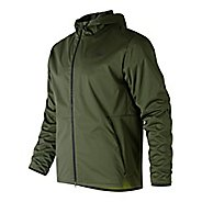 Mens New Balance Max Intensity Cold Weather Jackets - Dark Covert Green M