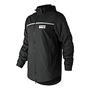 Mens New Balance NB Athletics Lightweight Windbreaker Cold Weather Jackets - Black S