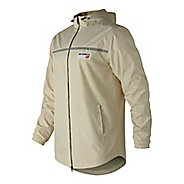 Mens New Balance NB Athletics Lightweight Windbreaker Cold Weather Jackets - Bone XL