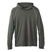 Mens Prana Calder Long Sleeve Half-Zips & Hoodies Technical Tops - Forest Green L