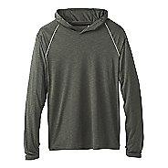 Mens Prana Calder Long Sleeve Half-Zips & Hoodies Technical Tops - Forest Green XL