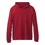 Mens Prana Calder Long Sleeve Half-Zips & Hoodies Technical Tops - Crimson M