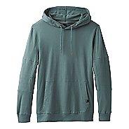 Mens Prana Sector Hoodie Half-Zips & Hoodies Technical Tops - Starling Green S
