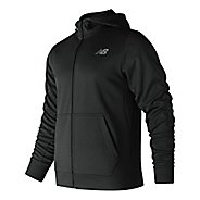Mens New Balance NB Core Fleece Full Zip & Hoodies Technical Tops