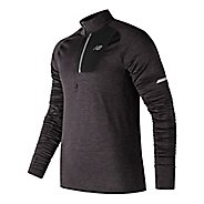 Mens New Balance NB Heat Half Zip & Hoodies Technical Tops