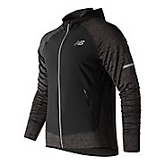 Mens New Balance NB Heat Run Running Jackets - Heather Charcoal L