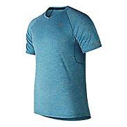 Mens New Balance NB Ice 2.0 Mesh Shirt Short Sleeve Technical Tops - Lake Blue L