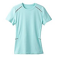 Womens Prana Eileen Sun Short Sleeve Technical Tops - Succulent Green XL