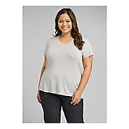 Womens Prana Foundation V Neck Short Sleeve Technical Tops
