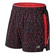 Mens New Balance Printed Impact 5 Unlined Shorts - Flame M