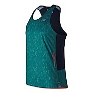 Mens New Balance Printed NB Ice 2.0 Singlet Sleeveless & Tank Technical Tops - Lake Blue XL