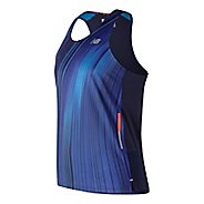 Mens New Balance Printed NB Ice 2.0 Singlet Sleeveless & Tank Technical Tops - Blue Pigment XL