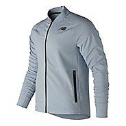 Mens New Balance Q Speed Running Jackets - Light Blue S
