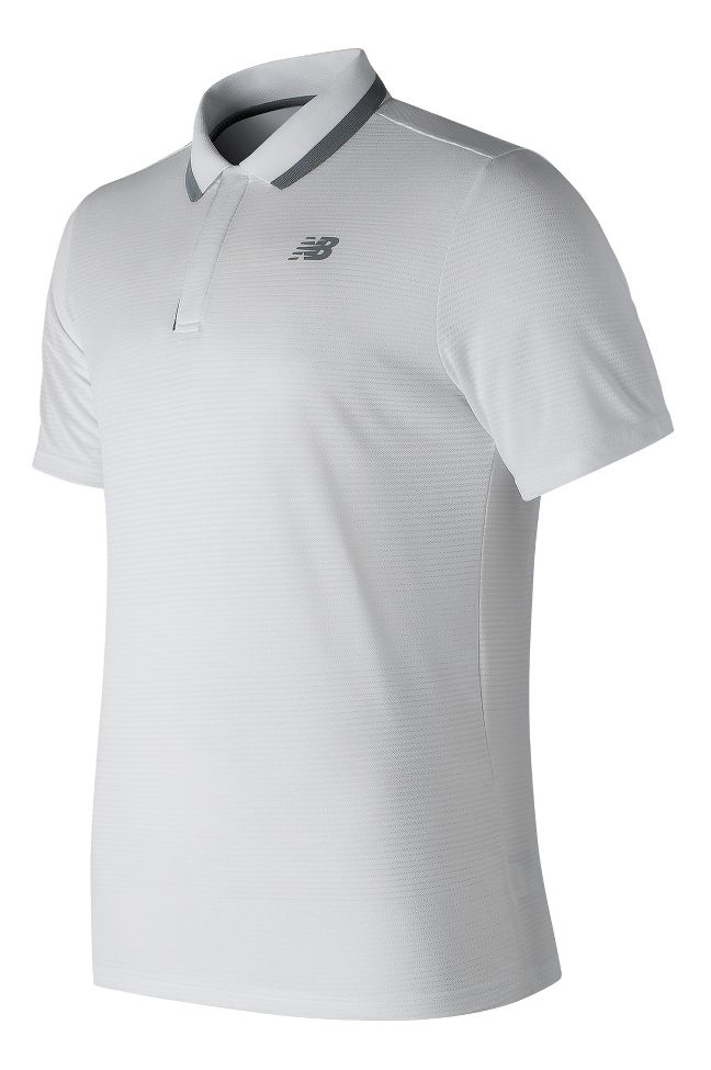 d7527136 Mens New Balance Rally Classic Polo Short Sleeve Technical Tops at ...