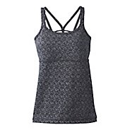 Womens Prana Naturale Sleeveless & Tank Tops Technical Tops - Charcoal Abalone S