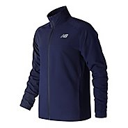 Mens New Balance Tenacity Woven Cold Weather Jackets - Blue Pigment L