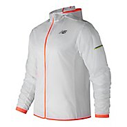 Mens New Balance Ultra Light Pack Running Jackets - White L