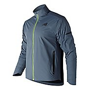 Mens New Balance Vented Precision Running Jackets - Deep Blue S