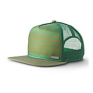 Mens Prana Vista Trucker Headwear - Green Field Stripe