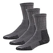 Mens Thorlos Hiking Thick Padded Crew 3 Pack Socks - Pewter M