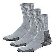 Mens Thorlos Hiking Thick Padded Crew 3 Pack Socks - Grey M