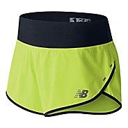 Womens New Balance 3 inch Impact Unlined Shorts - Solar Yellow S