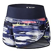 Womens New Balance 3 inch Printed Impact Unlined Shorts - Solar Yellow L