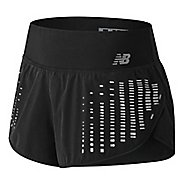 Womens New Balance 3 inch Reflective Impact Unlined Shorts