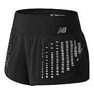 Womens New Balance 3 inch Reflective Impact Unlined Shorts - Black S