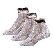 Mens Thorlos Lite Hiking Moderate Padded Ankle 3 Pack Socks - Walnut/Heather XL