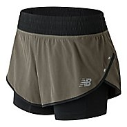 Womens New Balance 4 inch Impact Unlined Shorts - Military Green M