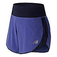 Womens New Balance 5 inch Impact Unlined Shorts - Blue Iris M