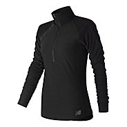 Womens New Balance Anticipate Half Zip & Hoodies Technical Tops - Black M