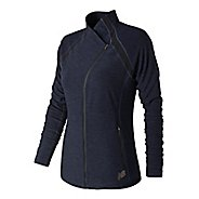 Womens New Balance Anticipate Running Jackets - Blue Pigment M