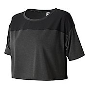 Womens New Balance Determination Crop Top Short Sleeve Technical Tops - Black S