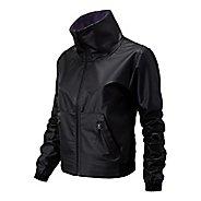 Womens New Balance Determination Bomber Casual Jackets - Black XL