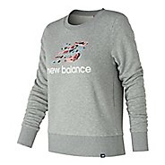 Womens New Balance Essentials Shoe Crew Long Sleeve Technical Tops