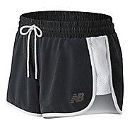 Womens New Balance Determination Unlined Shorts - Black/White L