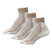 Womens Thorlos Lite Hiking Moderate Padded Ankle 3 Pack Socks - Khaki Heather L
